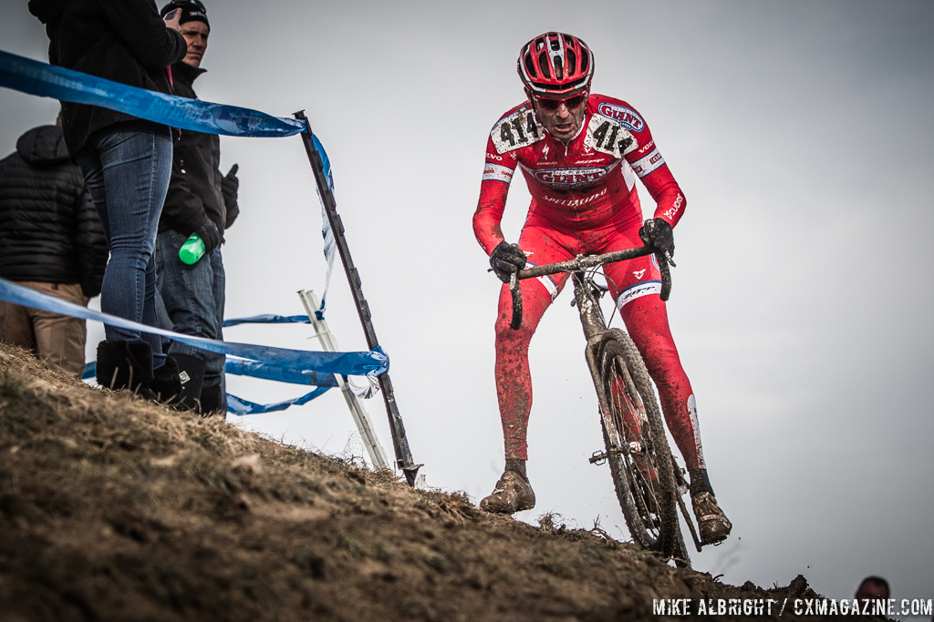 Robert Meighan in the men\'s 50-54 race at 2014 USA Cyclocross National Championships. © Mike Albright