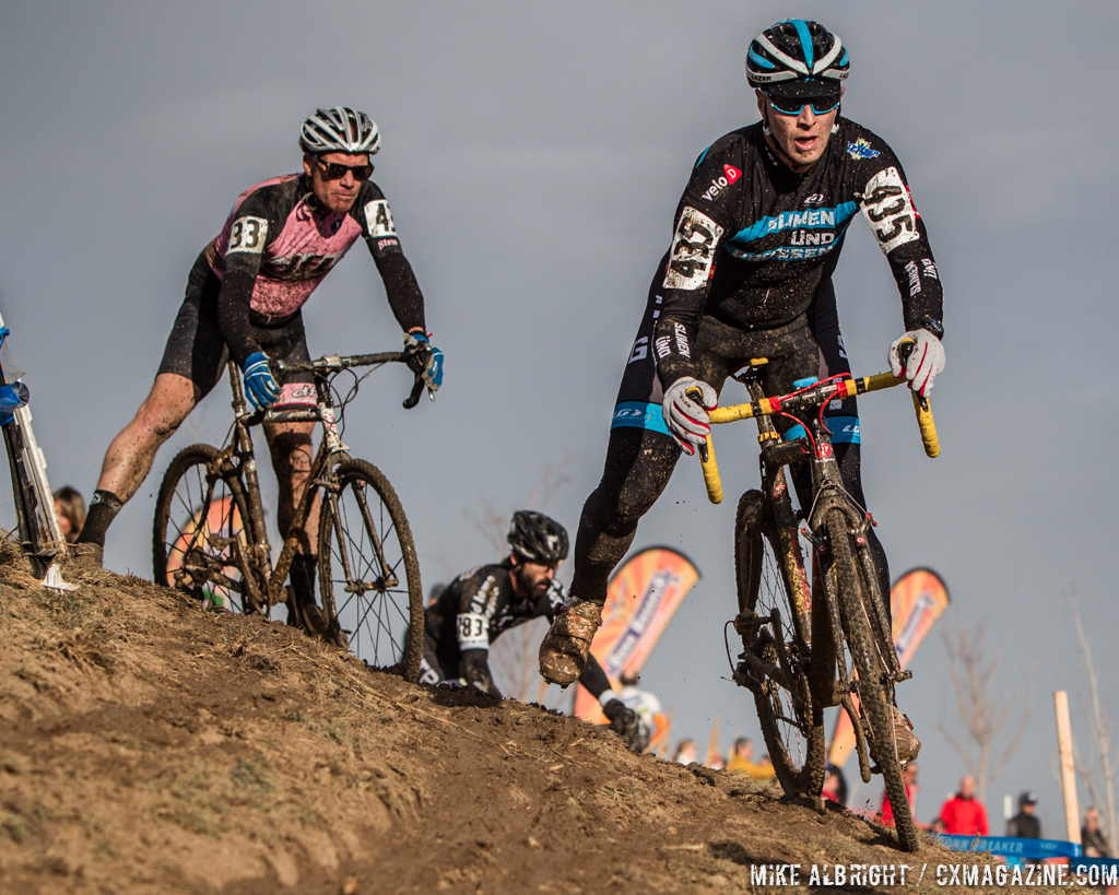 Jeffrey Unruh in the men\'s 50-54 race at 2014 USA Cyclocross National Championships. © Mike Albright