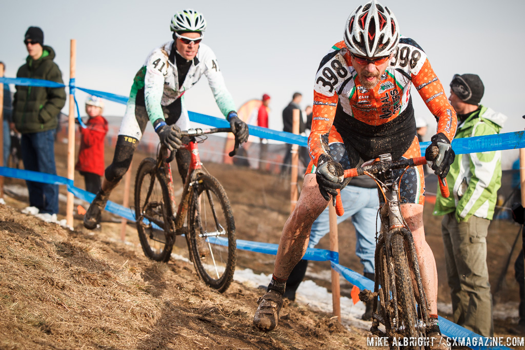 Emil Gercke in the men\'s 50-54 race at 2014 USA Cyclocross National Championships. © Mike Albright