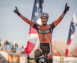 Gonzalez takes the win in the men's 50-54 race at 2014 USA Cyclocross National Championships. © Mike Albright