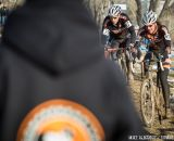 Fighting for position in the men's 50-54 race at 2014 USA Cyclocross National Championships. © Mike Albright
