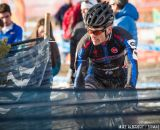 Game face on in the men's 50-54 race at 2014 USA Cyclocross National Championships. © Mike Albright