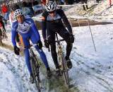 Joe Dombroski (r) has been testing his legs in Europe.  ? Bart Hazen