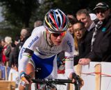 Marianne Vos jumping the barriers