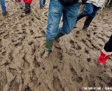 The spectators also had to work their way through the mud © Tom Robertson