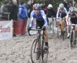 Helen Wyman with an early lead in the Elite Women's race. © Bart Hazen / Cyclocross Magazine
