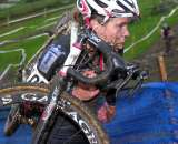 Elite women rider Anna Milkowski with fresh face mud. ? Paul Weiss