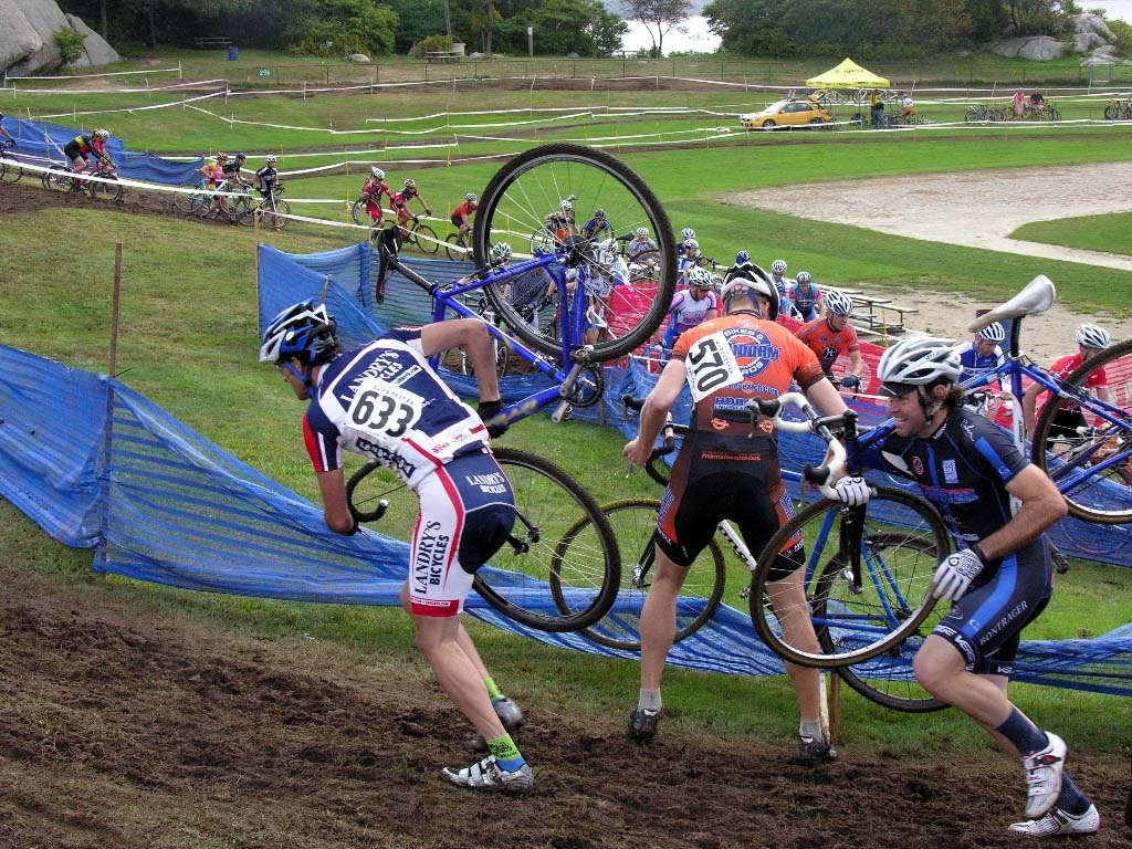 The Masters 35 race had some early chaos. ?Paul Weiss