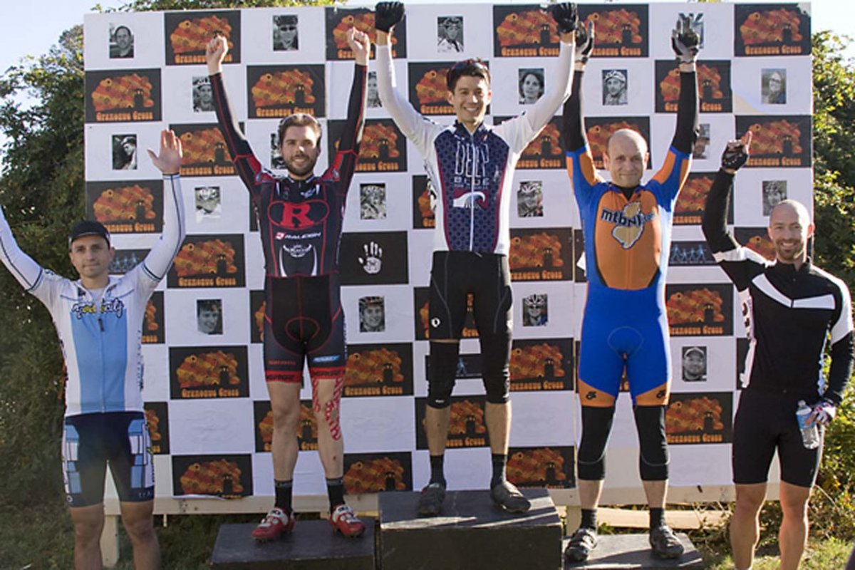 The B Men Podium. © Dennis Smith/dennisbike.com