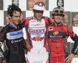 Lindine (l), Anthony and Mcgrath share the Elite Posium on Day 1. © Dennis Smith/dennisbike.com