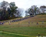The racers were single file all over the course. © Cyclocross Magazine