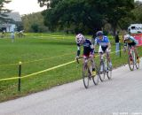 Seeking cover on the road section. © Cyclocross Magazine