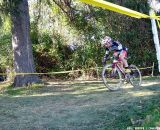 Lindine heads into the woods. © Cyclocross Magazine