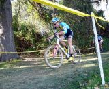 Livermon works to catch Lindine. © Cyclocross Magazine