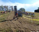 Putting a foot out for the off-camber. © Cyclocross Magazine