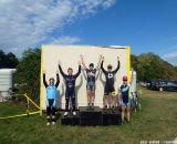 The day 2 podium, again topped by Van Gilder.