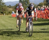 Anthony leads Bruno-Roy home for third. Green Mountain  2010 NECCS Opener at Catamount Cycling Center © Laura Kozlowski