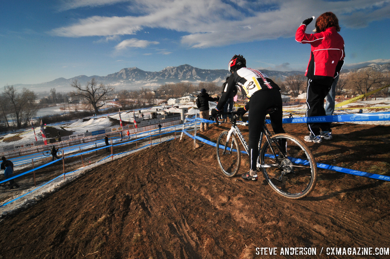 Ronald Riley in the Men\'s 60-64, 65-69, 70+ Nationals races in Boulder, Colorado. © Steve Anderson
