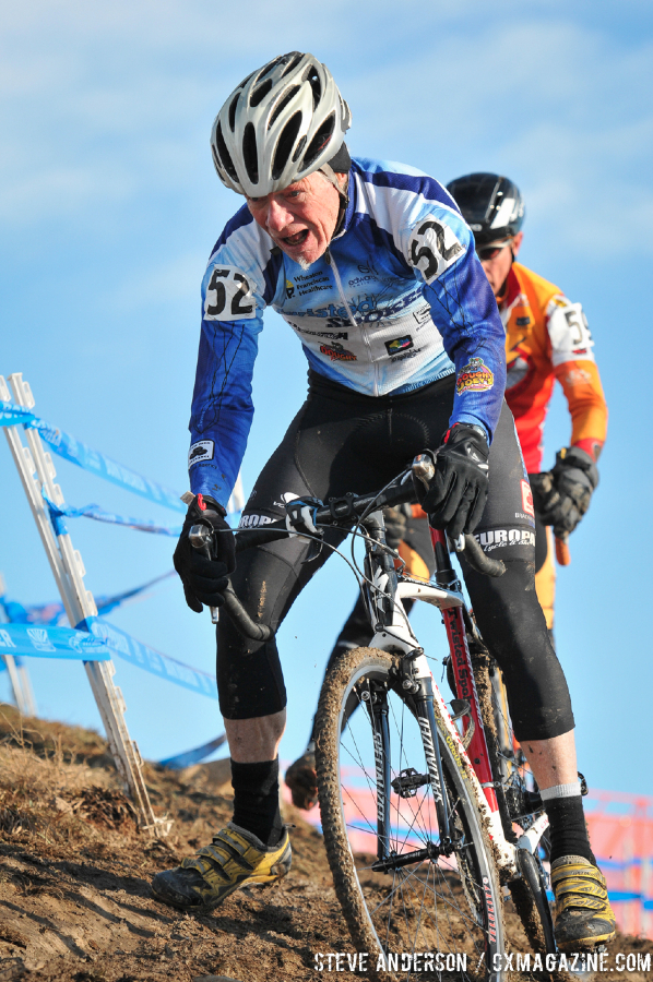 John Adamson in the Men\'s 60-64, 65-69, 70+ Nationals races in Boulder, Colorado. © Steve Anderson