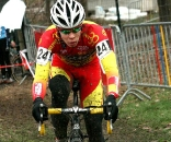Lauren Sweeck in the lead. GP Sven Nys 2009, Baal, GVA Trofee cyclocross series. © Bart Hazen