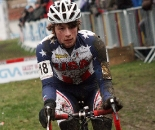 Jeff Bhanson, just a bit muddy. GP Sven Nys 2010, Baal, GVA Trofee cyclocross series. ? Bart Hazen