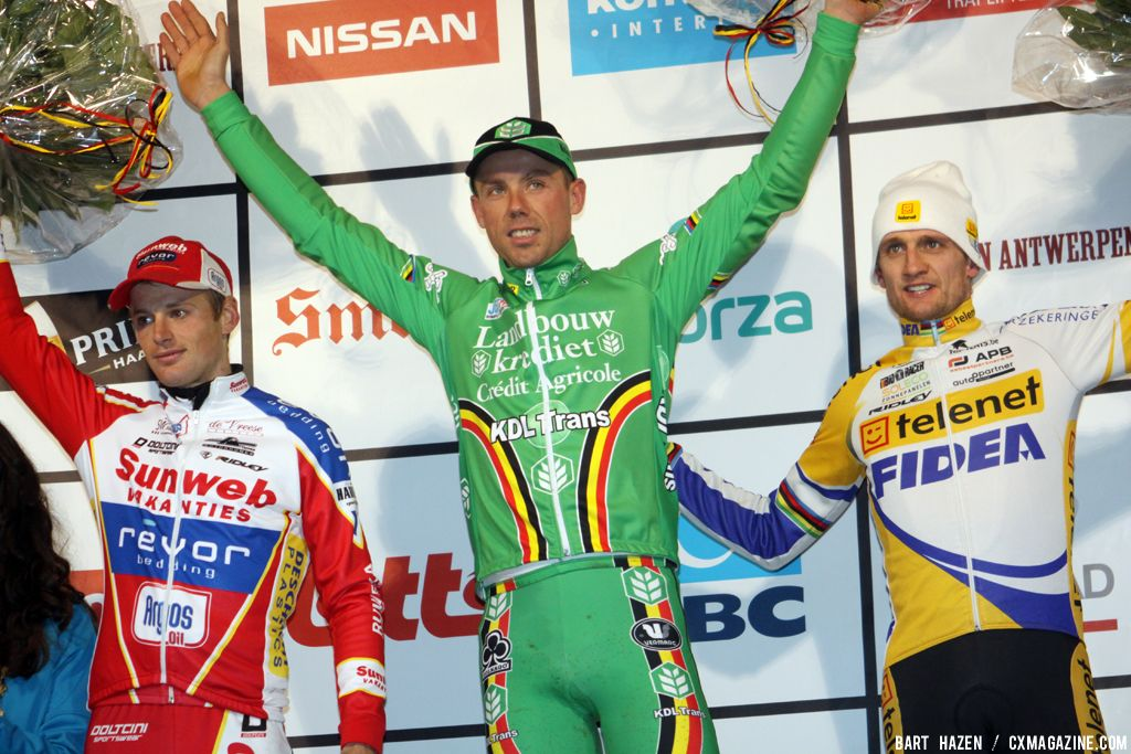 iThe Men\'s Podium: Wellens, Nys and Pauwels at Baal 2012 © Bart Hazen