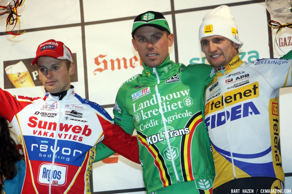 The Men\'s Podium: Wellens, Nys and Pauwels at Baal 2012 © Bart Hazen