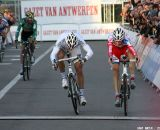 Pauwels outsprints Stybar for his third GVA win of the season. © Bart Hazen
