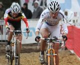 Vos applies the pressure in the sand ©Bart Hazen