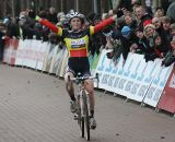 Sanne Cant is jubilant with the win ©Bart Hazen
