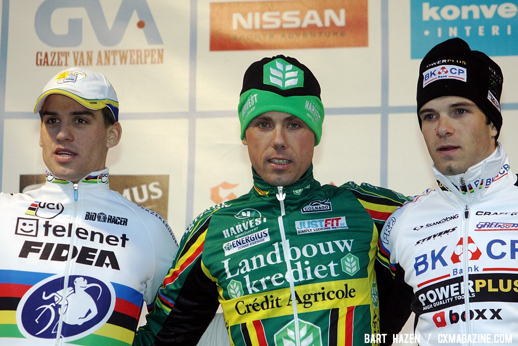 The podium in Baal: Stybar - Nys - Albert