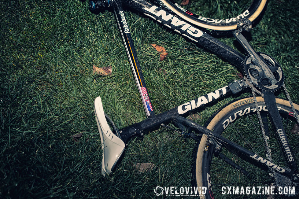 Compton\'s bike at the Harbin Park Cyclocross Clinic © VeloVivid