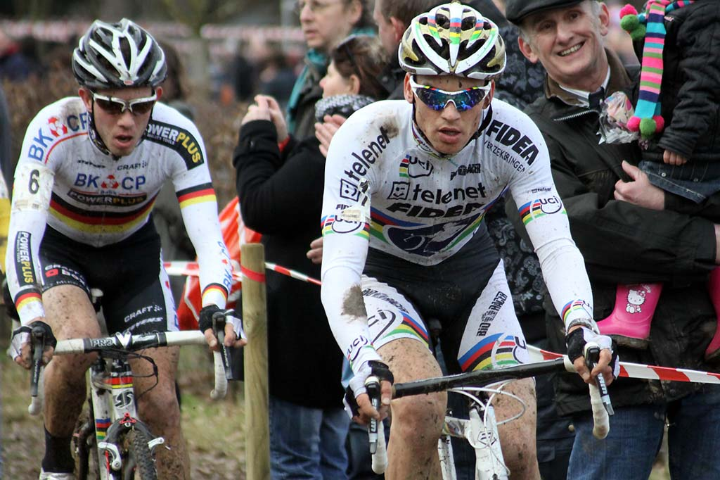 Stybar leads Walsleben during the race in Heerlen. © Bart Hazen