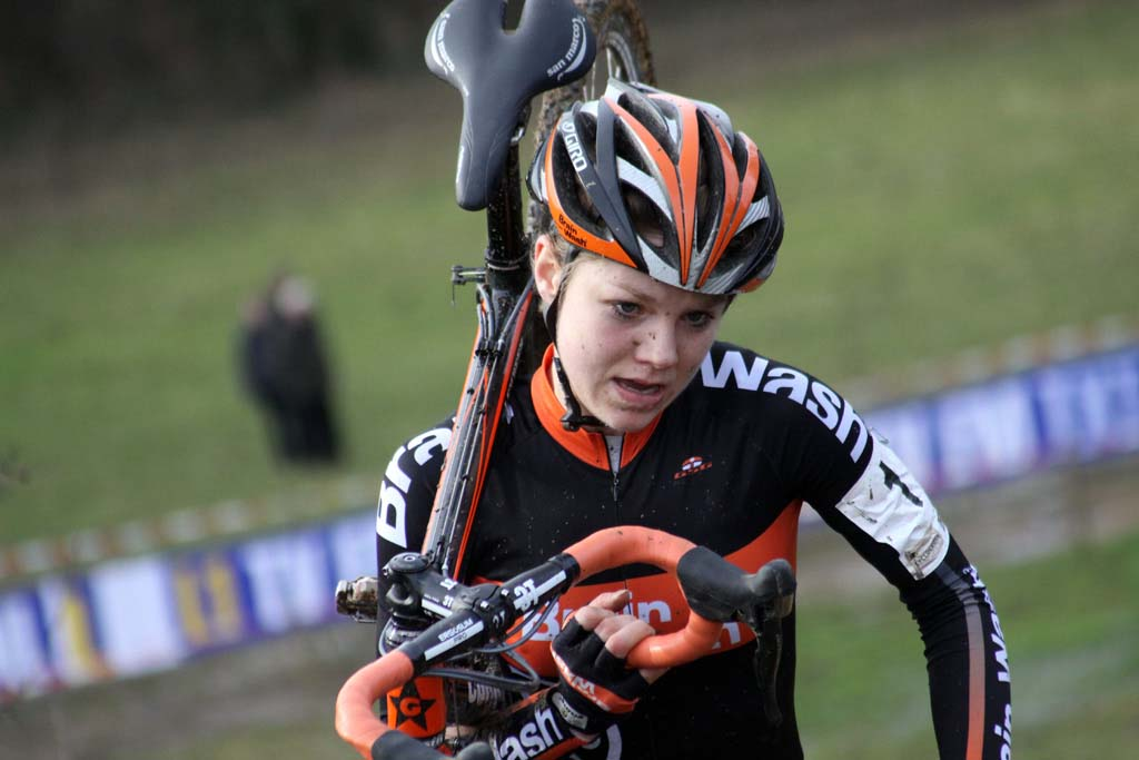 Sanne van Paassen, the overall World Cup winner, would finish second. © Bart Hazen