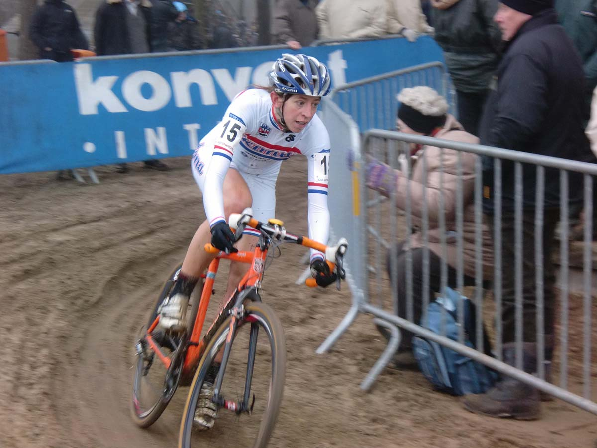 Wyman shows focus in the sand at Lille. Photo Courtesy Helen Wyman