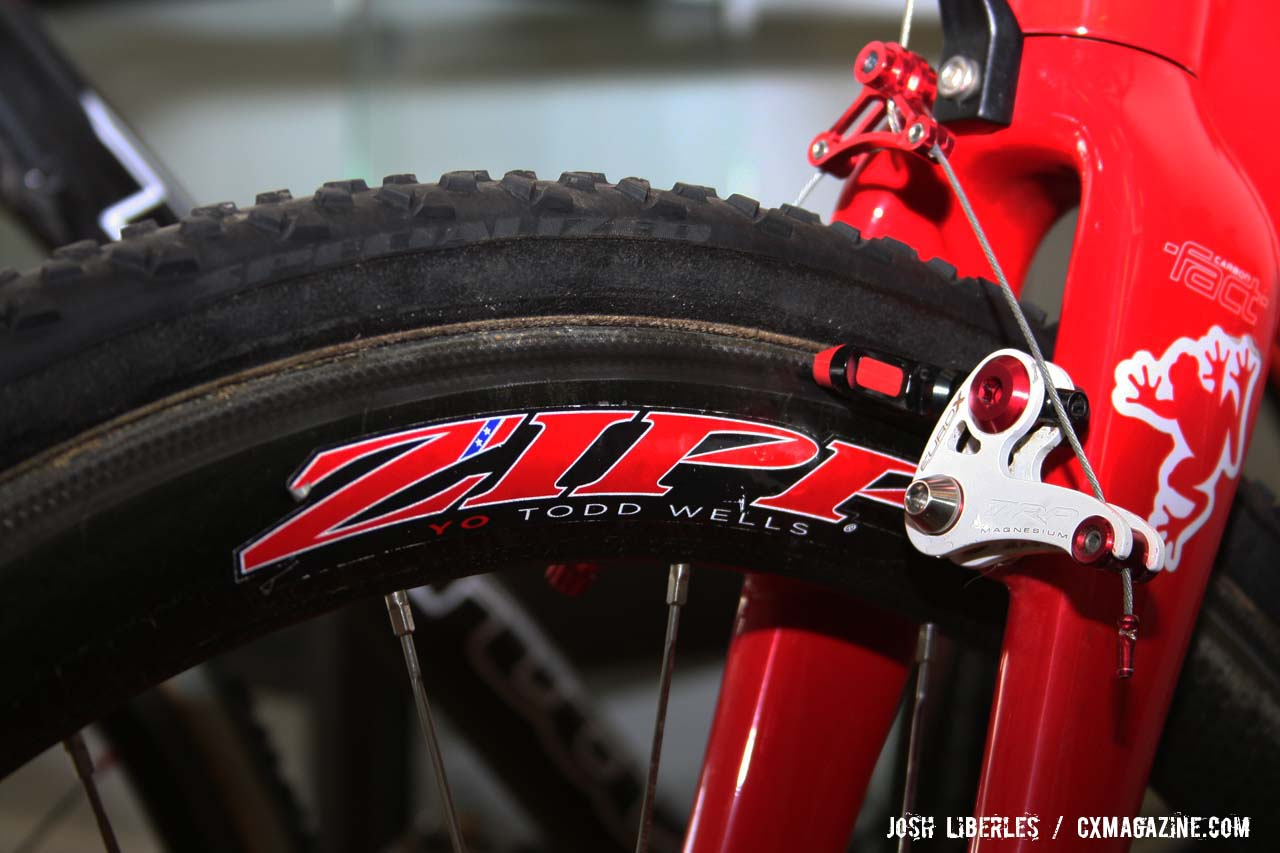 When you\'re a multi-time national champ, Zipp supplies custom decals ©Josh Liberles