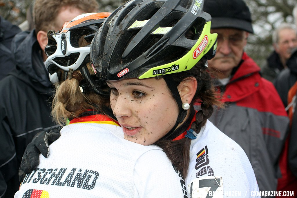 Sabrina Schweizer and Martina Zwick - Hoogerheide Cyclocross Word Cup 2011