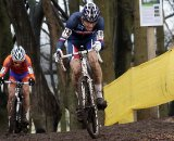 Kevin Bouvard on the attack followed by Danny van Poppel. © Bart Hazen