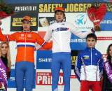 The junior podium in Hoogerheide. ? Bart Hazen