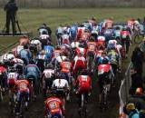 The start of the U23 race in Hoogerheide. ? Bart Hazen