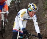 Tom Meeusen locked up the overall World CUp title with second in Hoogerheide. ? Bart Hazen