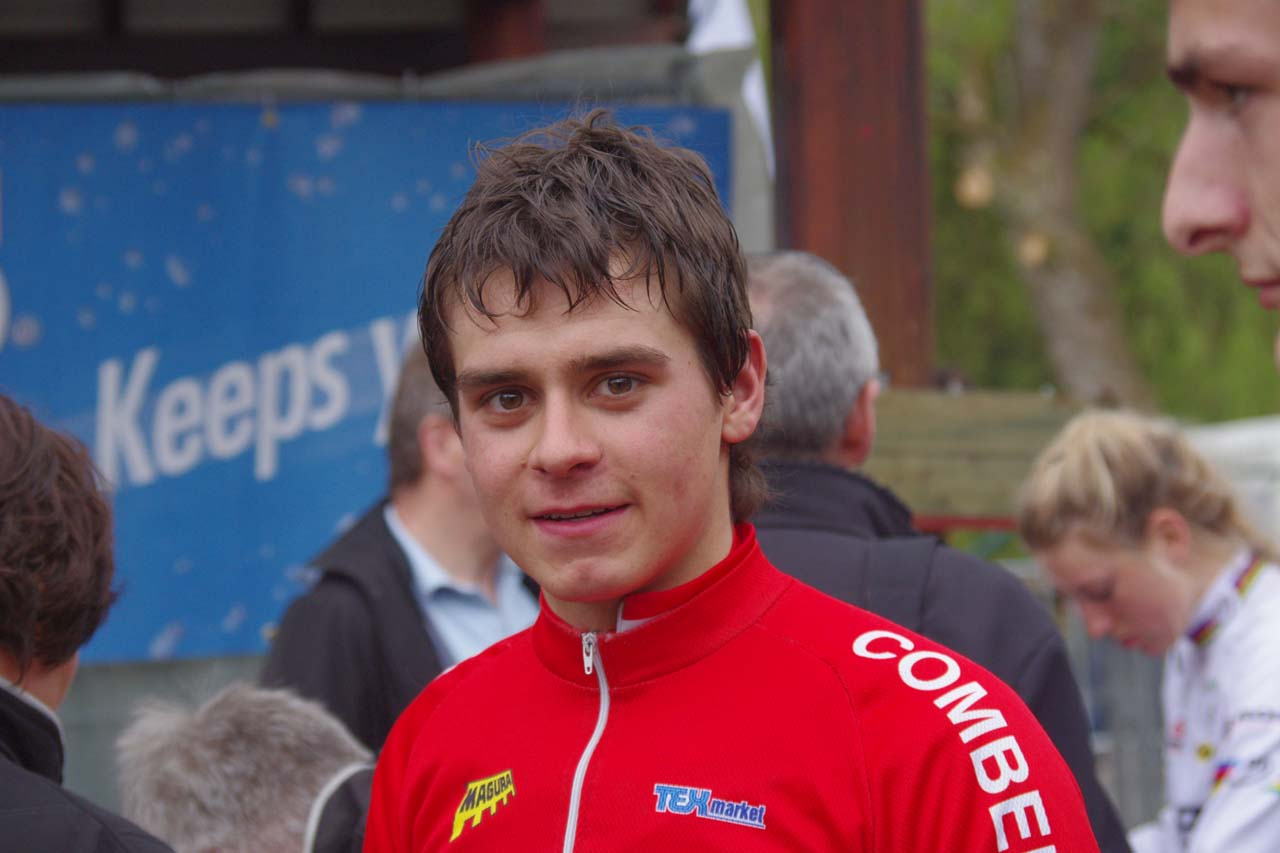 Junior Men's winner Michiel ? Christine Vardaros