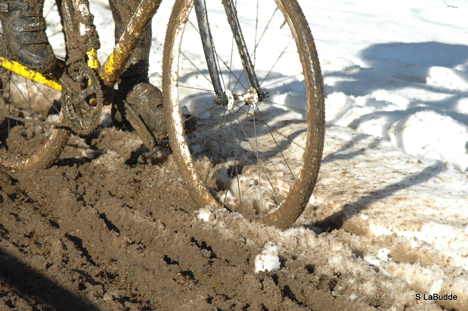 The course turning from ice to mud at HPCX 2011 © Chris LaBudde