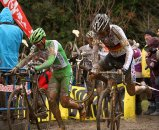 German Champion Phillip Walsleben remounts on the first lap © Cyclocross Magazine
