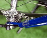 IF's Titanium Factory Lightweight Cyclocross Bike features large diameter titanium seat stays. ©Cyclocross Magazine