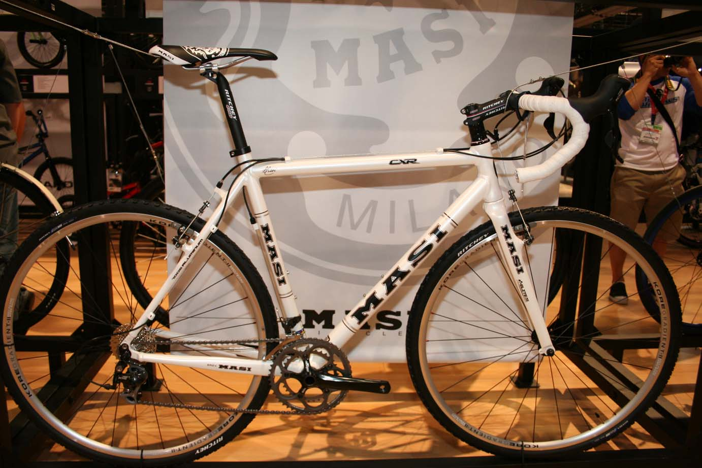 Masi had it\'s new aluminum $1786 CXR on display. ?Cyclocross Mag