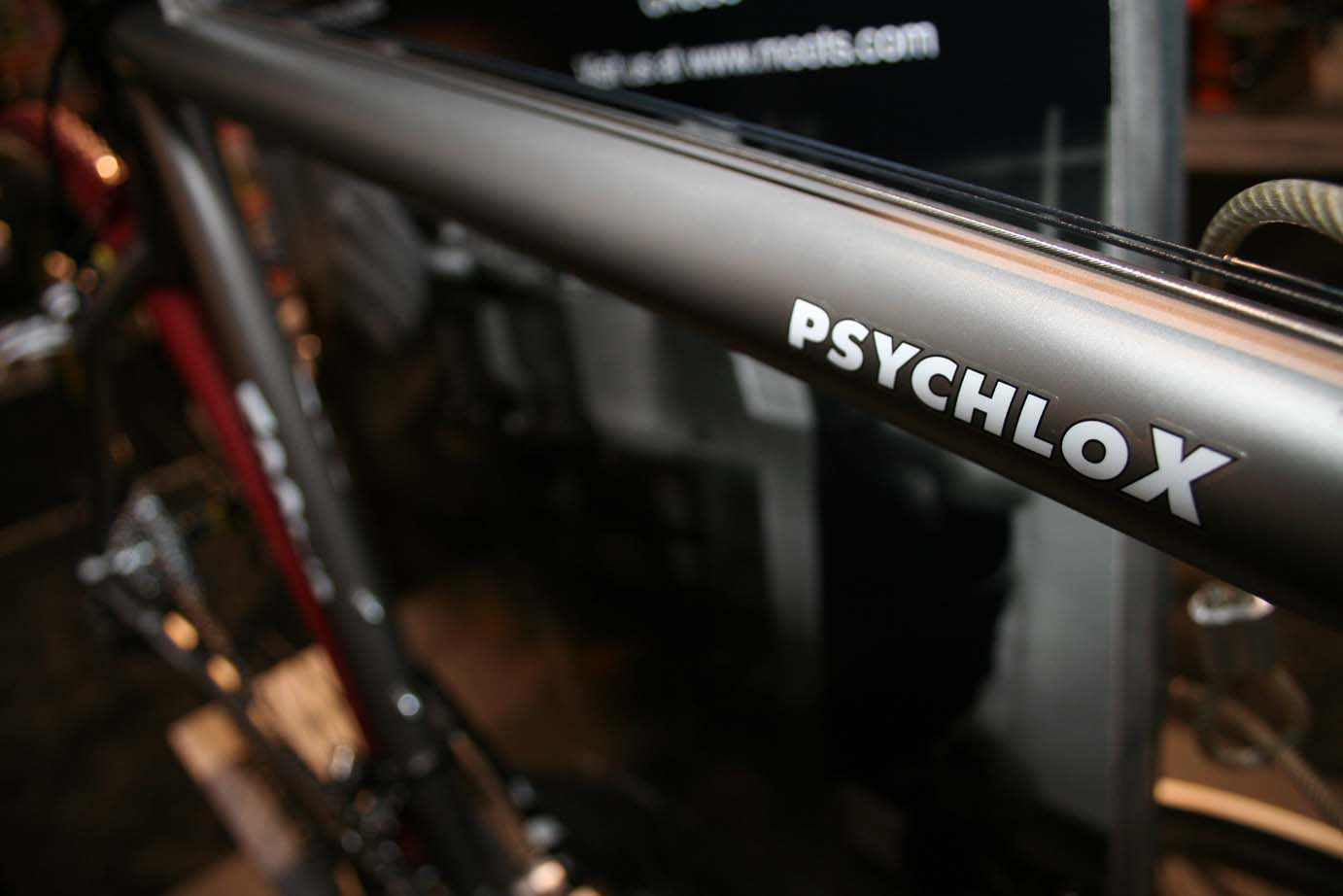 Moot's Titanium PsychloX was one of a the few titanium 'cross bikes at the show. ?Cyclocross Magazine