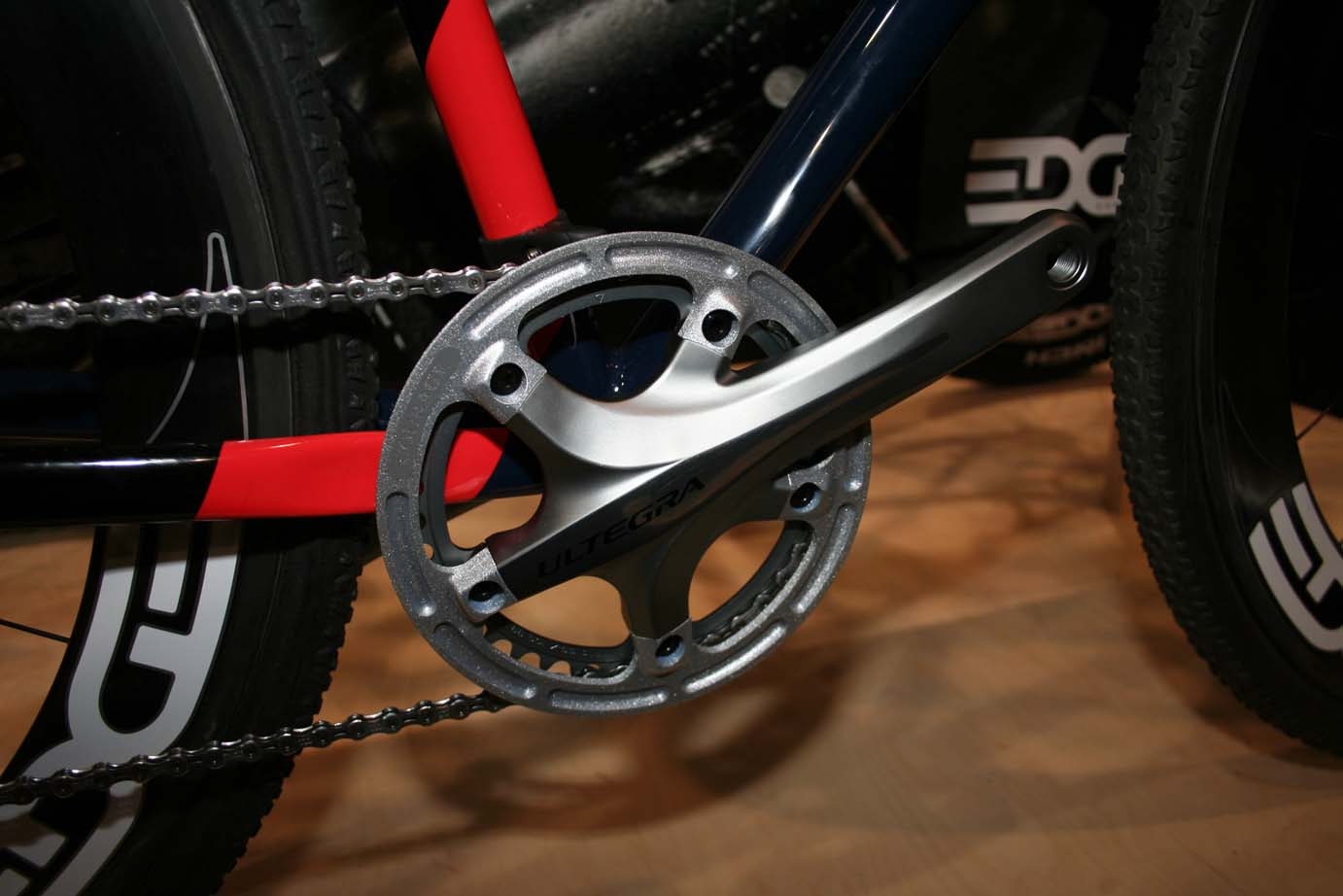 Courage made its own chainguard for this Dura Ace 7900 crank.  ?Cyclocross Magazine
