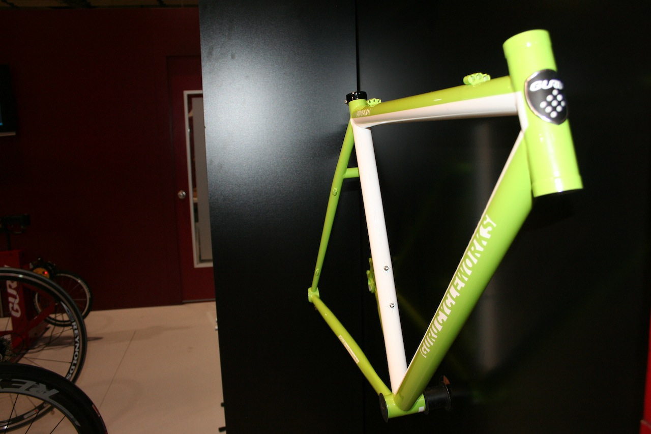 Geometry, headtube length, cable routing options are all customized for the rider © Josh Liberles