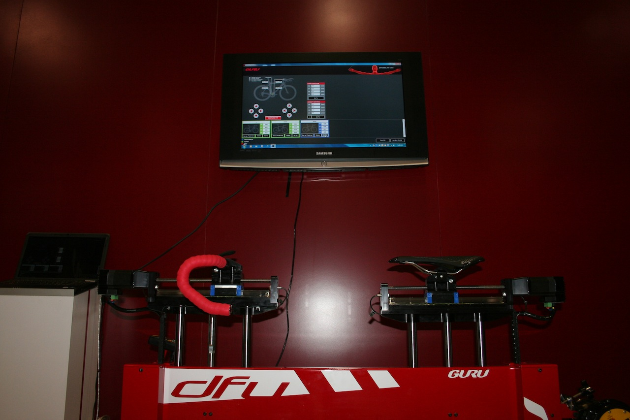 A bike fit system with Computrainer integration and power analysis © Josh Liberles